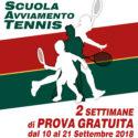 Scuola Tennis, Prova Gratuita