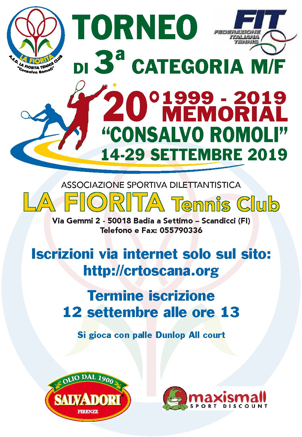 Torneo FIT 2 Consalvo Romoli, 20a edizione!